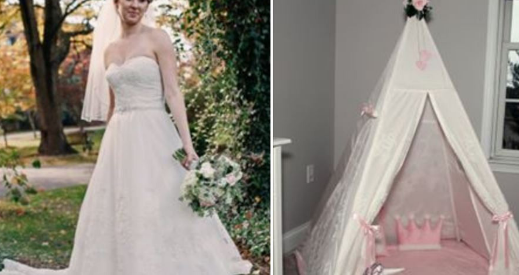 Wedding Dress Into A Play Tent How To Instructions Moms Com,Plus Size Wedding Dresses Tampa