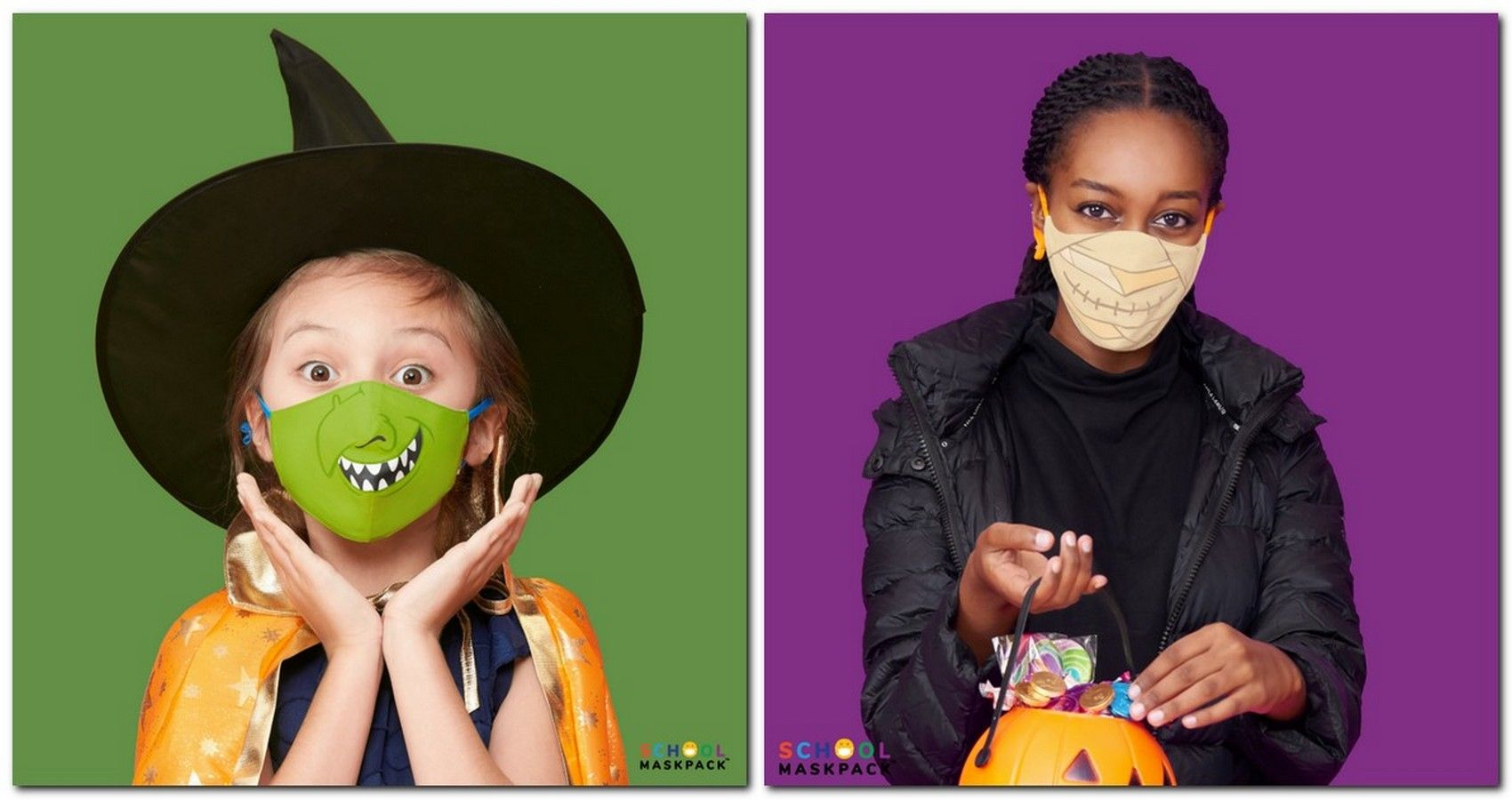 Crayola's Face Masks For Halloween Might Save Your Child's Costume