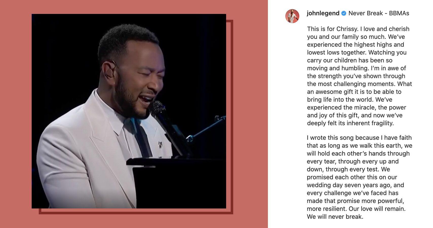 John Legend Posts Sweet Tribute To Wife Chrissy On Instagram