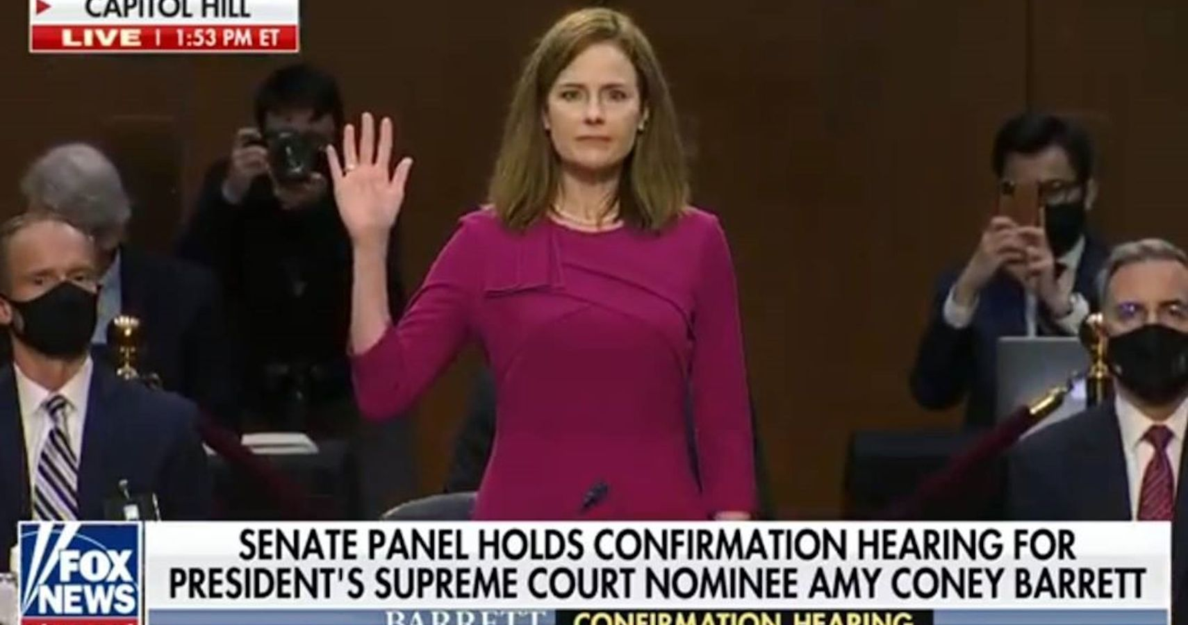 Amy Coney Barrett's Notepad Was Blank The Whole Time | Moms.com