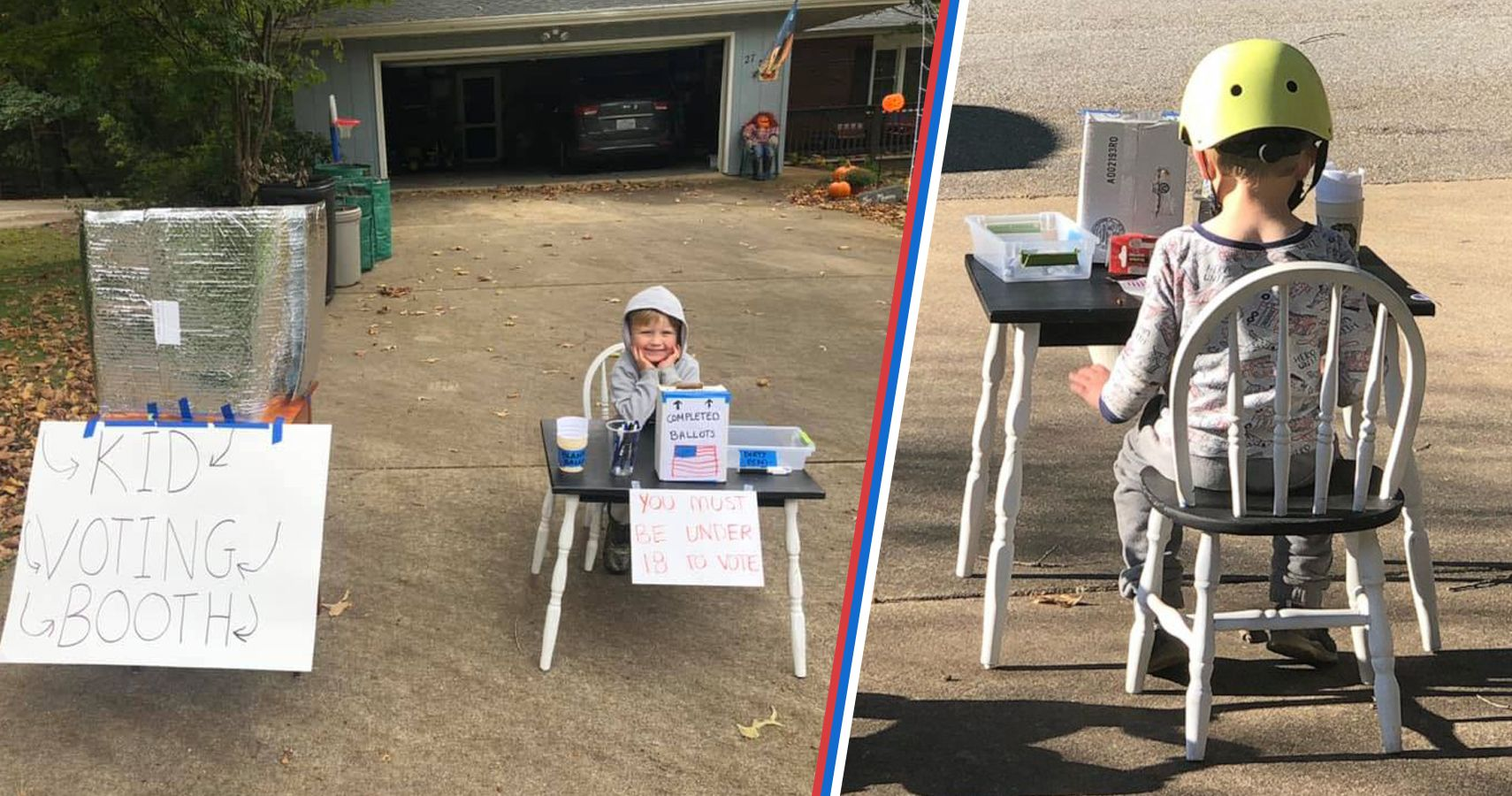 6-Year-Old's Homemade Election Booth | Moms.com